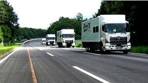 NEDO,大型トラックの自動運転・隊列走行実験に成功