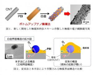 九大,カーボンナノチューブを利用した高性能燃料電池触媒を作成