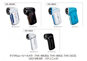 パナソニック,デジタルムービーカメラ/ウェアラブルカメラの新機種を発売