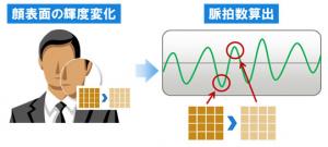 富士通,顔の画像からリアルタイムに脈拍を計測する技術を開発