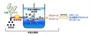 北大、身近な活性炭を用いてバイオマスを高効率で糖化