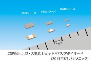 パナソニック,小型・大電流 ショットキバリアダイオードを発売