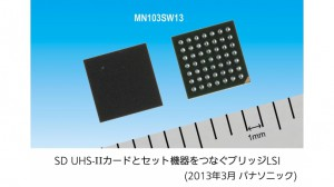 パナソニック,UHS-II規格対応SDカードとセット機器をつなぐ「ブリッジLSI」を商品化
