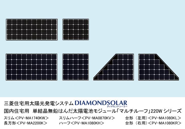三菱電機,単結晶無鉛はんだ太陽電池モジュールを発売