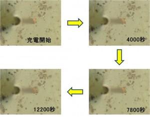 NIMSと首都大東京、リチウムイオン電池用シリコン電極の1粒子の充電による膨張の観察に成功