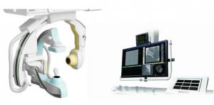 島津製作所,12インチ角FPD搭載バイプレーン血管撮影システムを発売