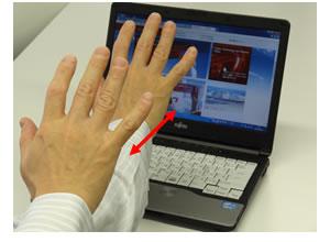 富士通,PCやタブレットの単眼カメラでより複雑な操作が可能な3次元ジェスチャー認識技術を開発