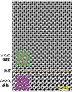 京大、酸化物ヘテロ界面での格子歪みの直接観察に成功