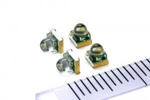 ローム,業界最小クラスの面実装非球面レンズ付きLEDを発売