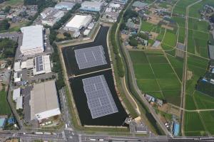 埼玉県で水上メガソーラーが竣工