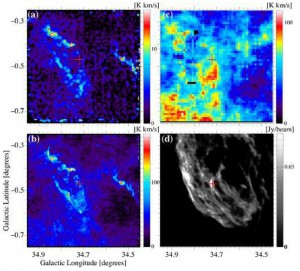"""慶大,星間分子雲中を通過する超新星衝撃波の""""速度計測""""に成功"""