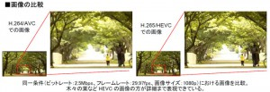 NTT,「H.265/HEVC」に準拠した世界最高レベルの動画圧縮技術を開発
