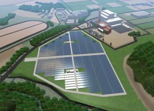 NTTファシリティーズ,茨城県牛久市にメガソーラーを建設