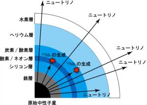 東工大ら,放射性同位体ニオブ92が超新星爆発のニュートリノで生成されたことを理論的に解明