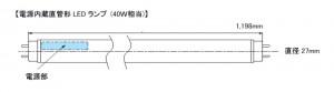 オプティレッドライティング,電源内蔵直管形LEDランプ4モデルを発売