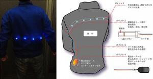 産総研など、電子テキスタイル製造技術を用いたLEDスポーツウエアを開発