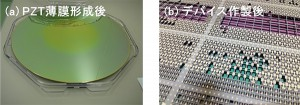 産総研,圧電MEMSデバイスを大口径ウェハ上に作製するプロセス技術を開発