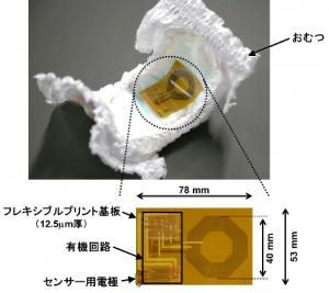 東大、柔らかいワイヤレス有機センサシステムの開発に成功