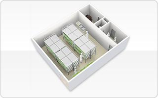 昭和電工のオールインワン植物工場ユニット,大型植物工場に採用