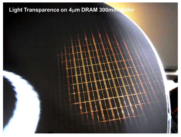 東工大ら,DRAMを搭載した300mmウエハを厚さ4㎛に超薄化することに成功