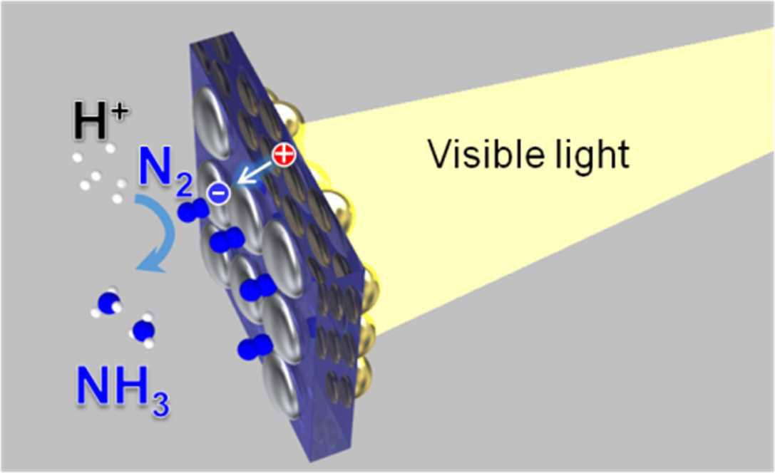 北大,可視光を用いて空気中の窒素をアンモニアに変換する人工光合成を開発