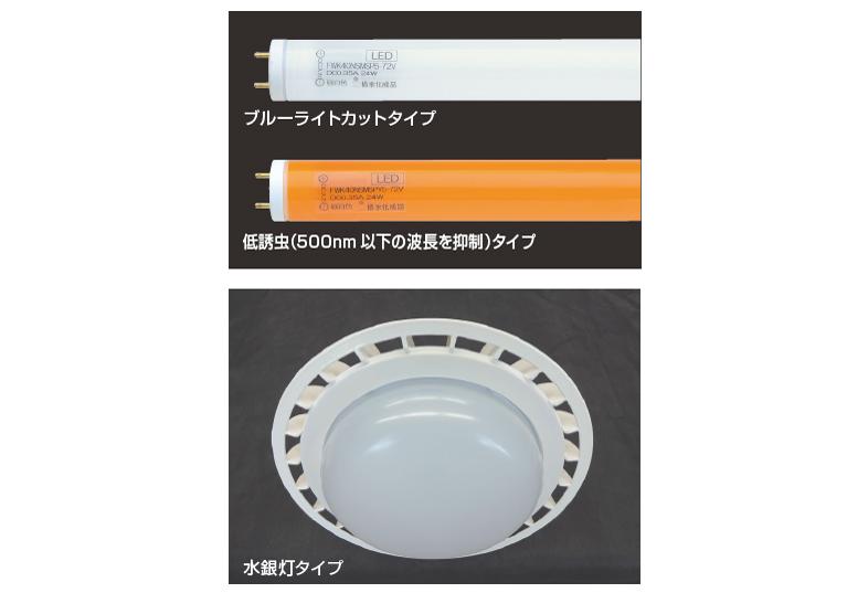 積水化成品工業,ブルーライトカット/低誘虫/水銀灯タイプLEDを発売