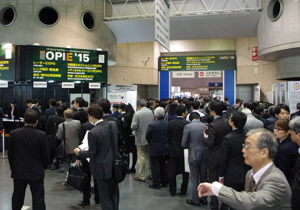 光技術総合展示会「OPIE'15」パシフィコ横浜にて開幕