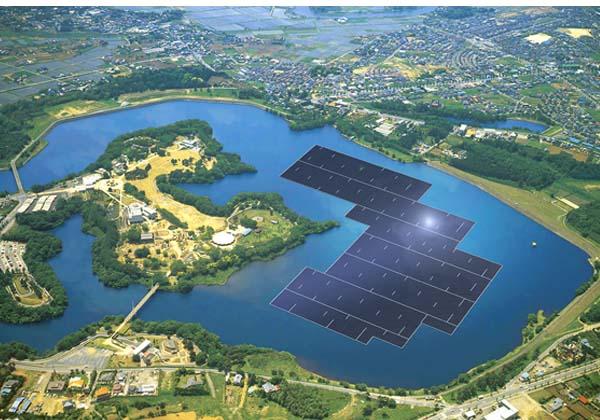 京セラら,世界最大の水上太陽光発電施設を建設開始